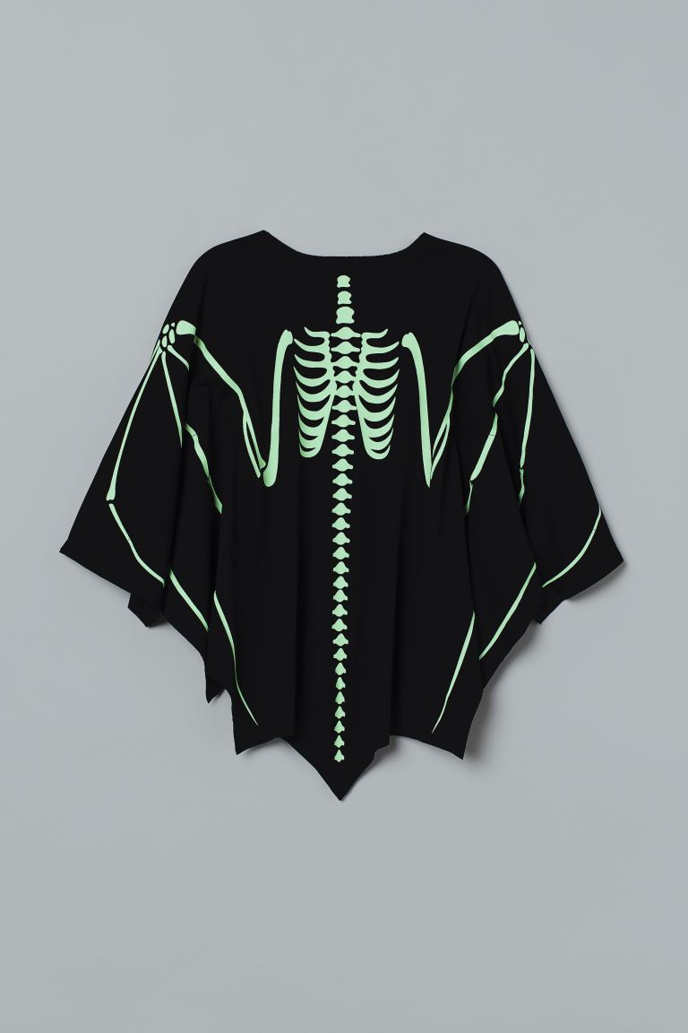 Fancy dress cape - Night black/Glow-in-the-dark - Kids | H&M