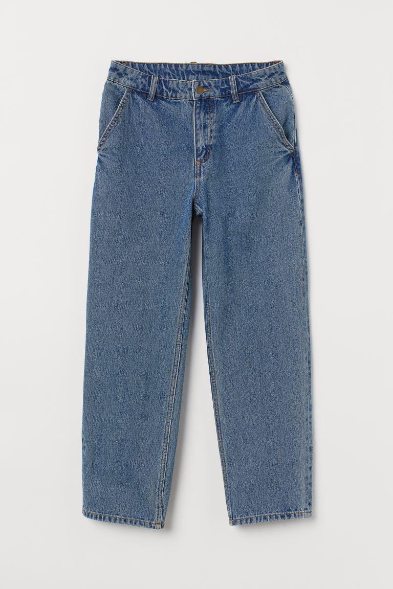 Verrassend Wijde jeans - Denimblauw - DAMES | H&M NL PX-69