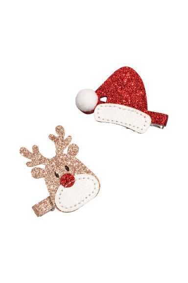 Lot de 2 barrettes - Red/Santa hat - ENFANT | H&M FR