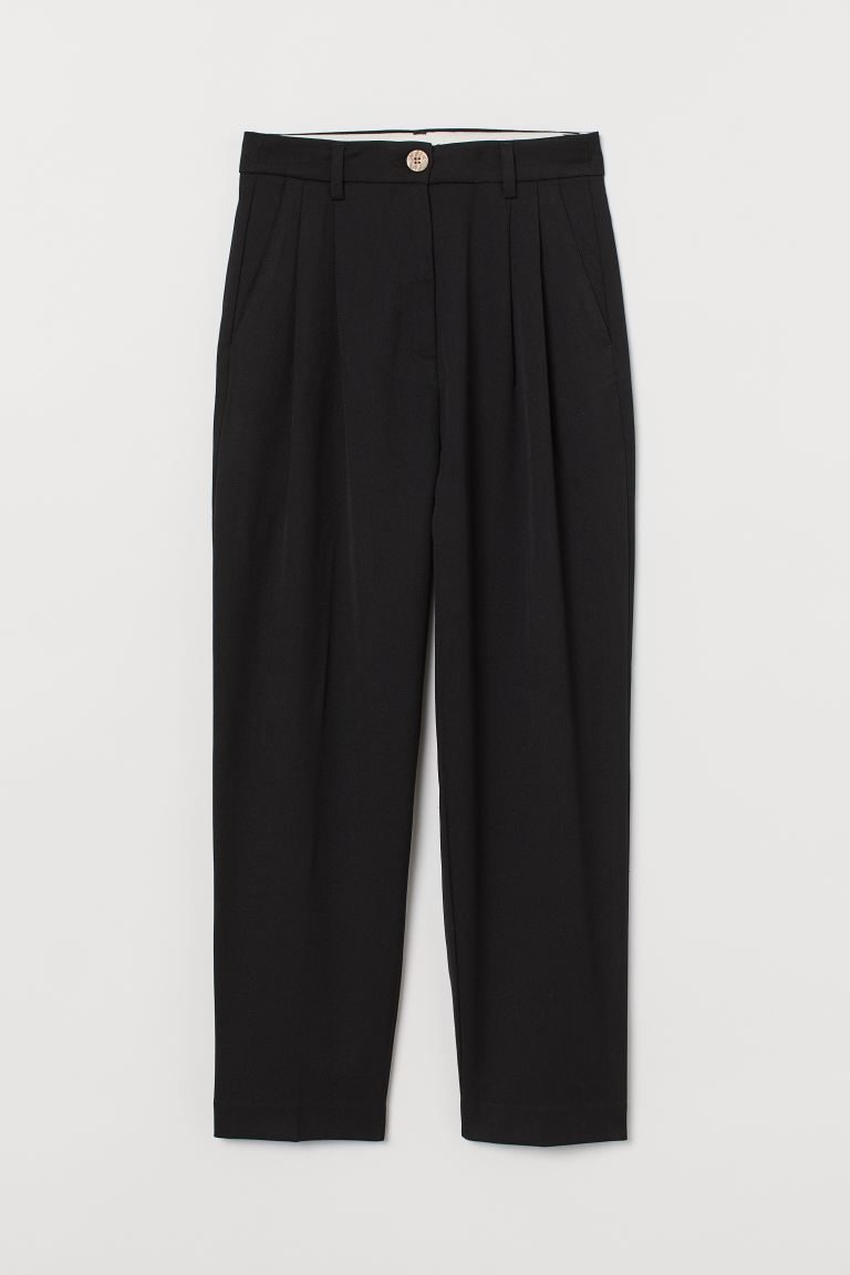 Cigarette trousers - Black - Ladies | H&M IN