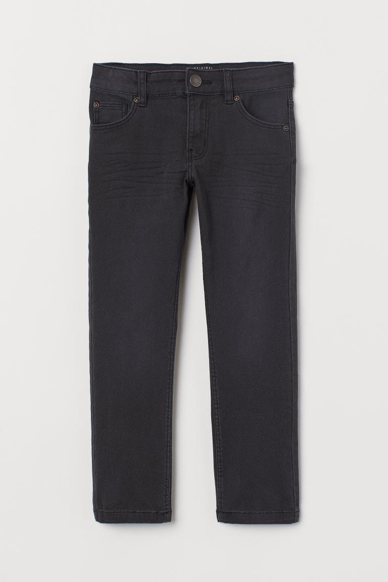 Stretch twill trousers - Black/Washed - Kids | H&M GB
