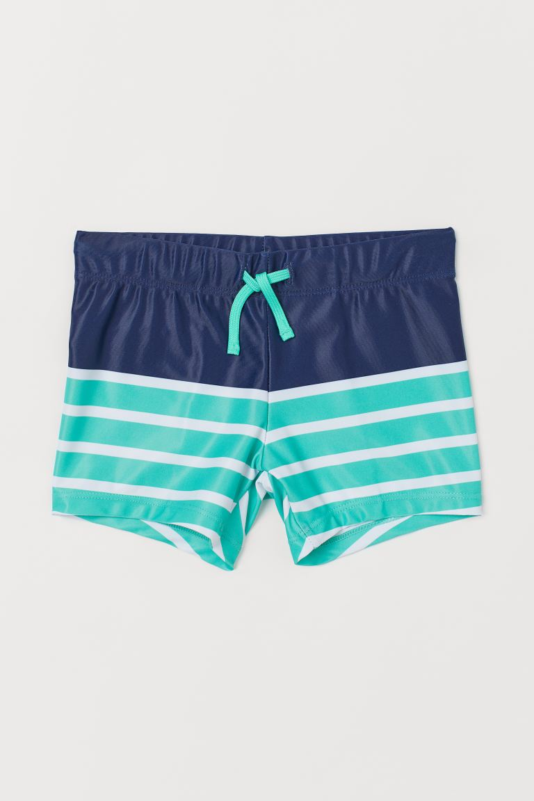 Swim Trunks - Dark blue/striped - Kids | H&M US