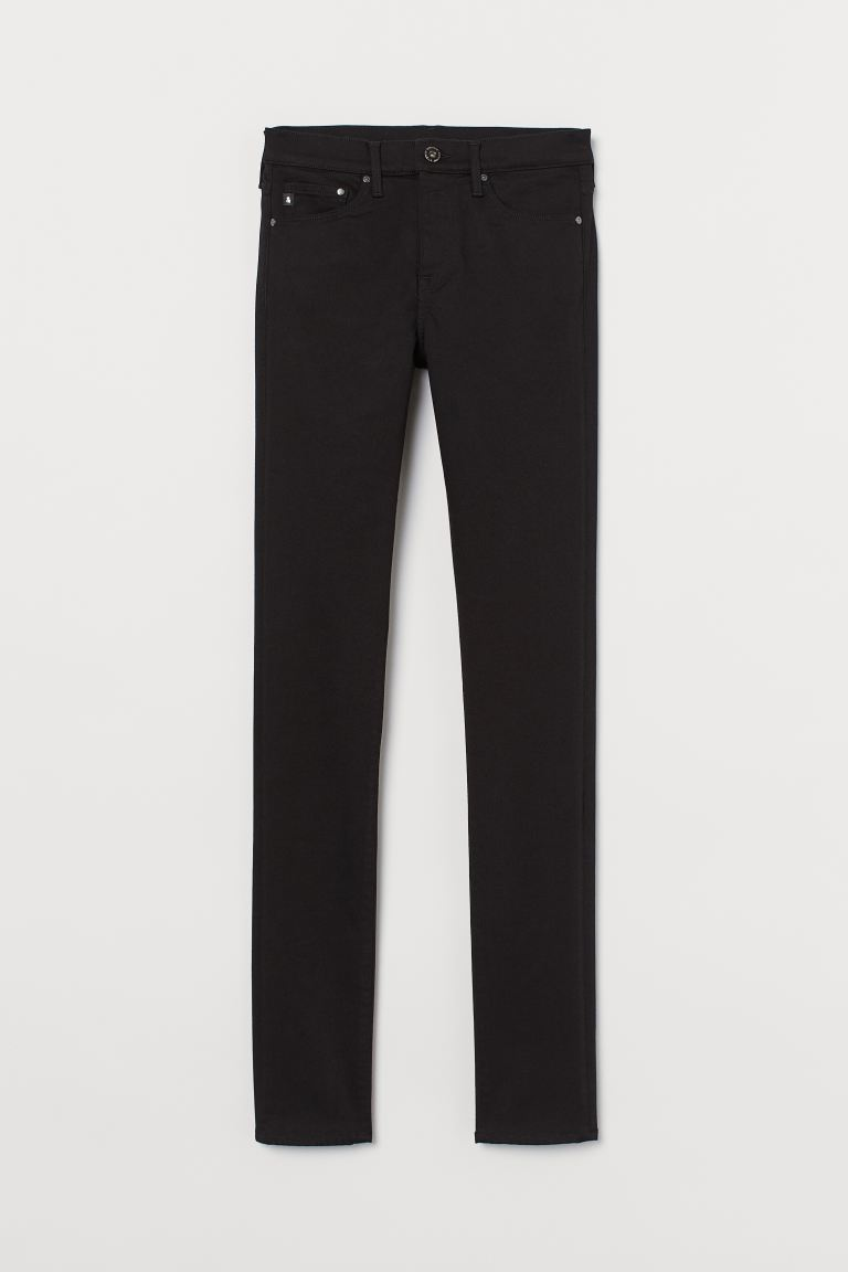 Shaping Skinny Regular Jeans - Black/No fade black - Ladies | H&M IE