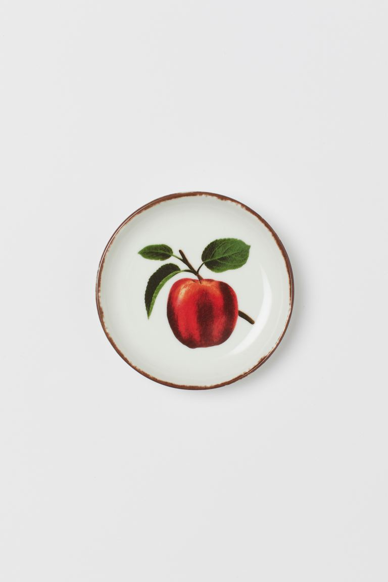 Porcelain Mini Dish - White/apple - Home All | H&M US