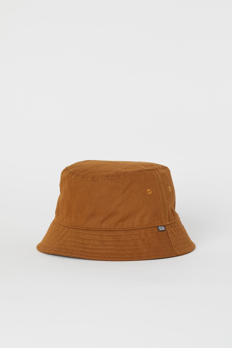 Cotton bucket hat - Brown - Men | H&M