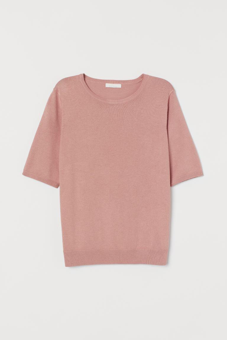 Fine-knit jumper - Powder pink - Ladies   H&M GB