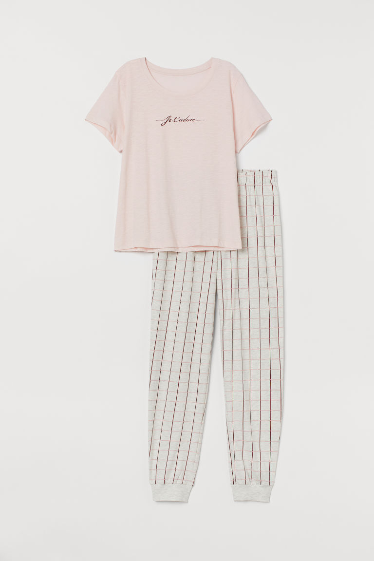 Pajamas - Light pink/Je t'adore - Ladies | H&M US
