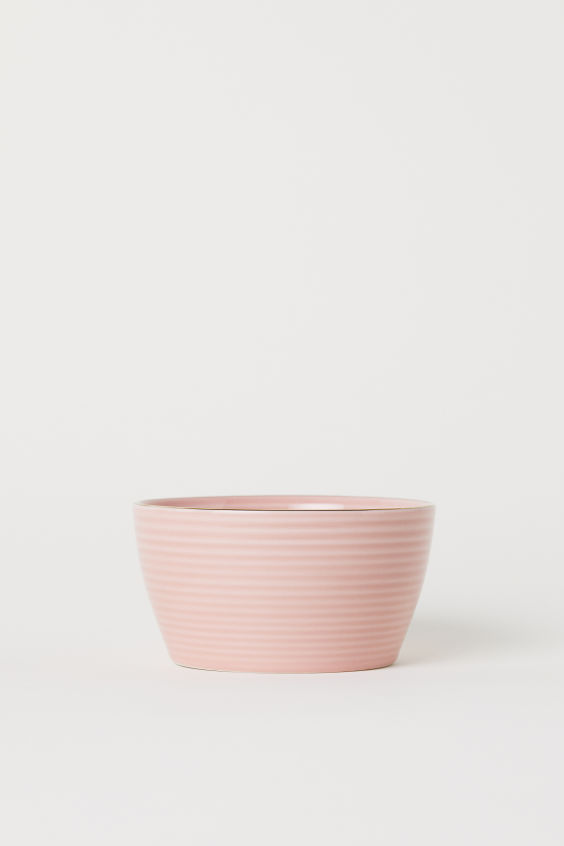 Textured Bowl - Dusky pink - Home All | H&M US 2