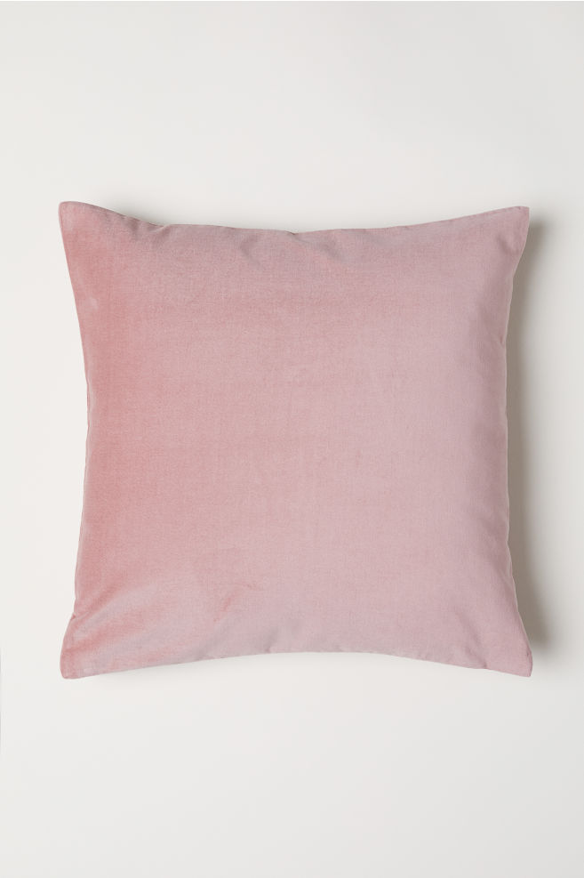 Pink H&M Velvet Cushion