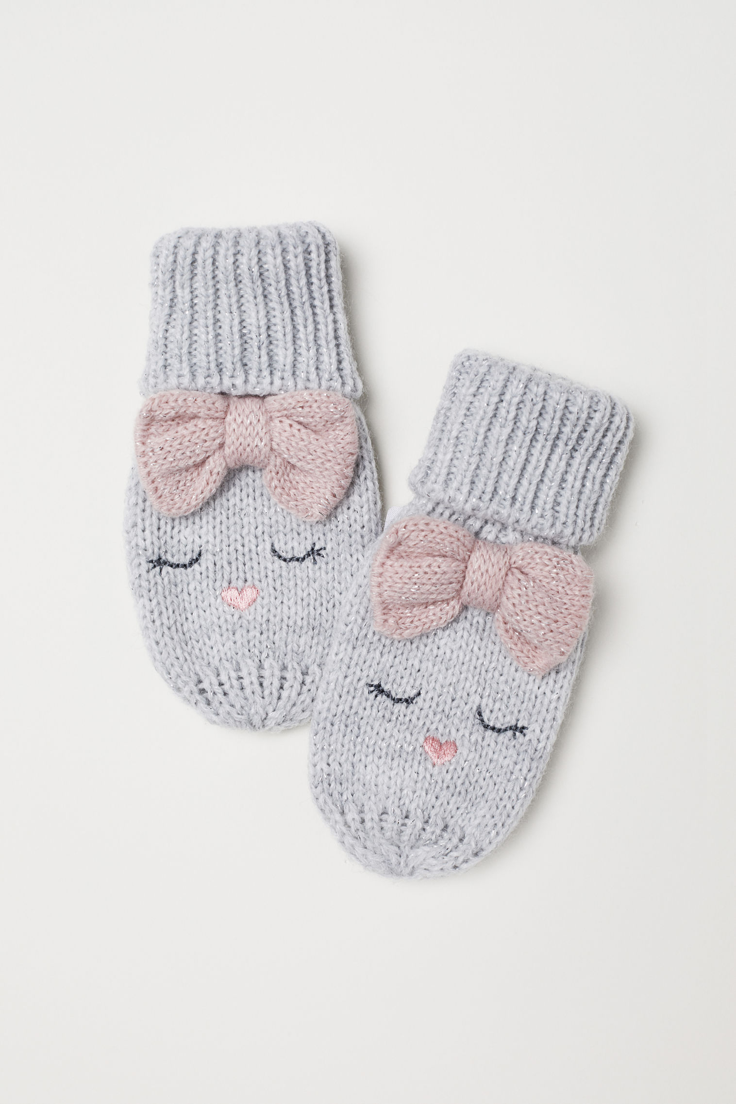 Knitted mittens | H&M UAE