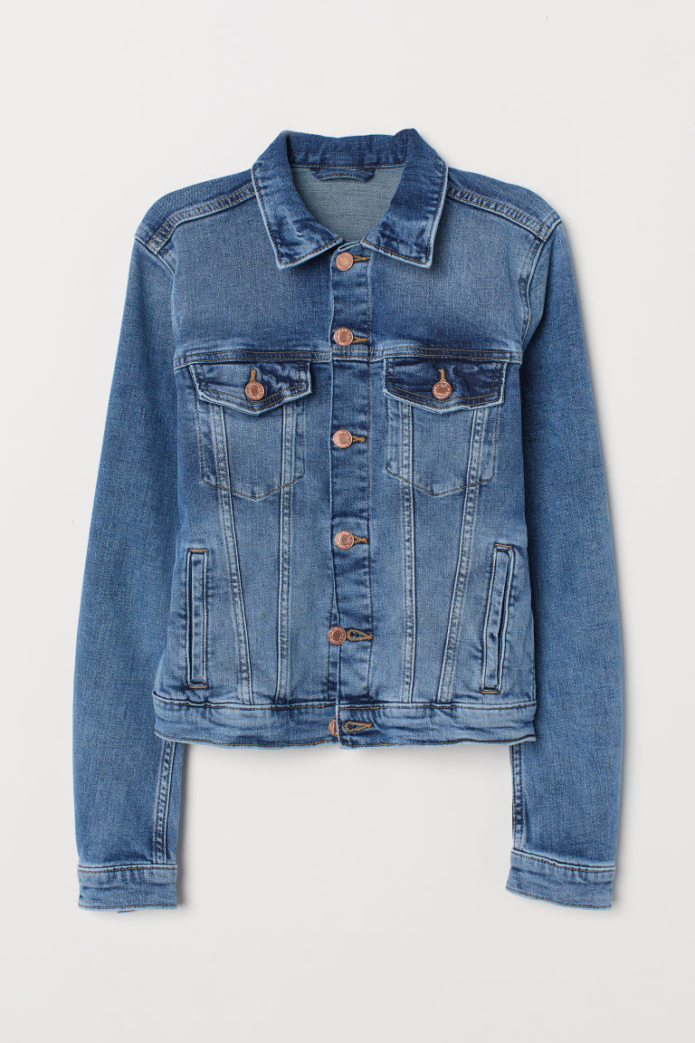 Denim Jacket - Denim blue/washed - Ladies | H&M US 5