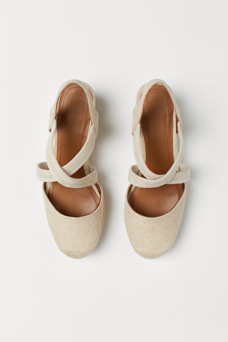 Wedge-heel Sandals - Light beige - Ladies | H&M US 2