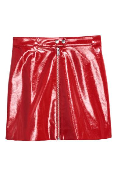 Lakierowana spódnica - Czerwony - ONA | H&M PL