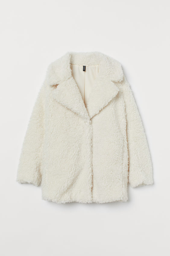 Long Faux Fur Jacket - Cream - Ladies | H&M US 5