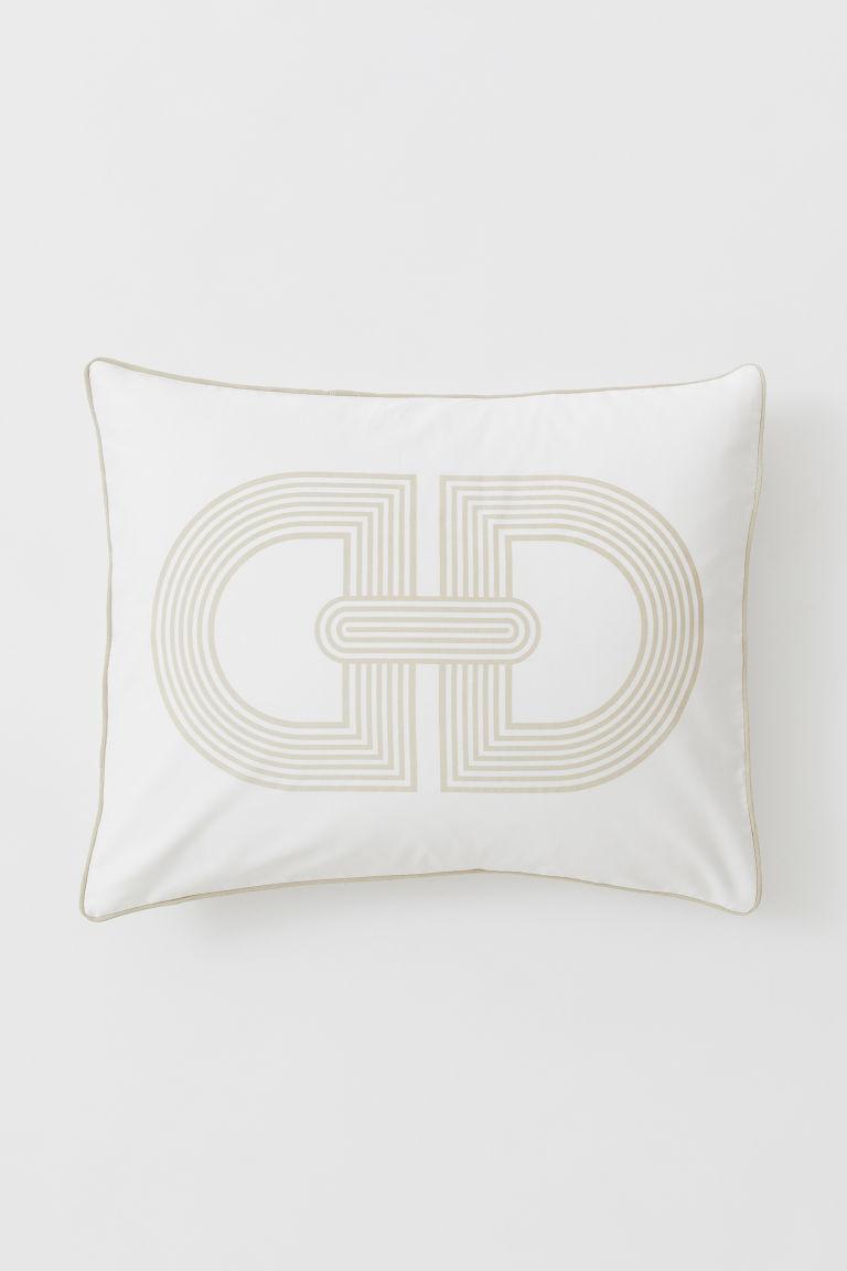 Cotton satin pillowcase