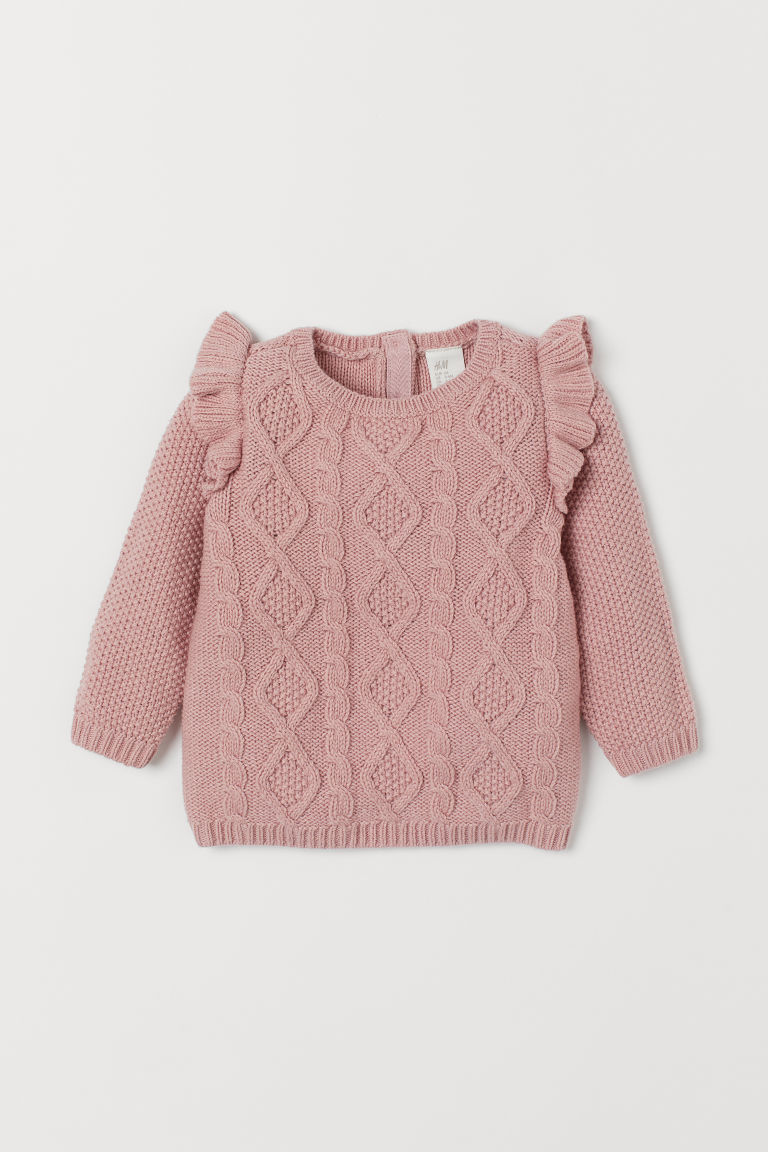Cable-knit Sweater - Light pink - Kids | H&M US