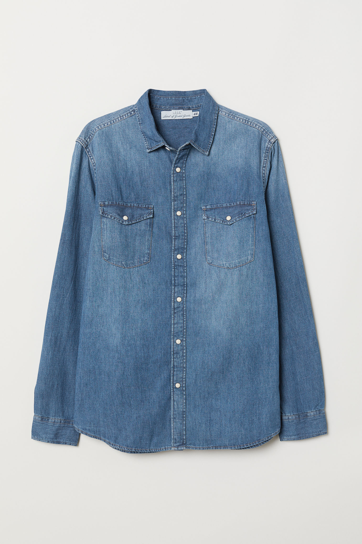 3449ec289371 Denim shirt Regular Fit | H&M KSA