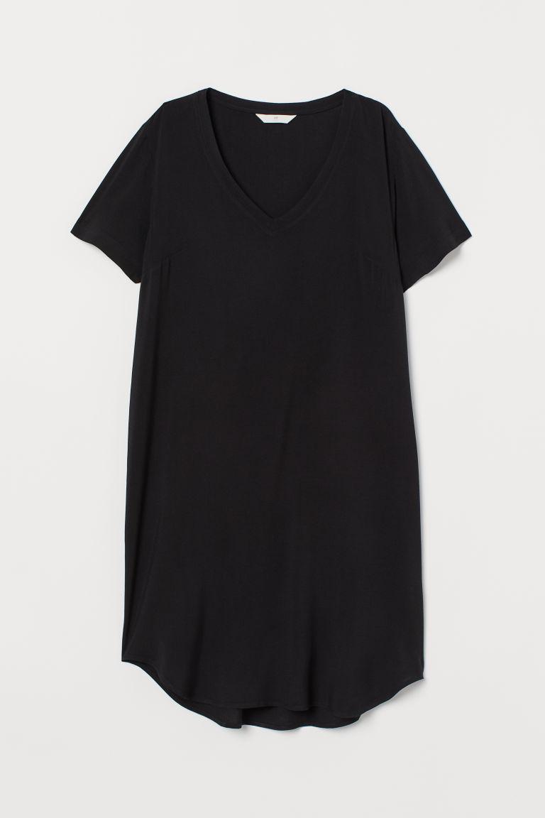 Kleid mit VAusschnitt  Schwarz  Ladies  HM DE