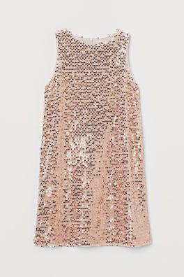 Платье с блестками в модели A-Line