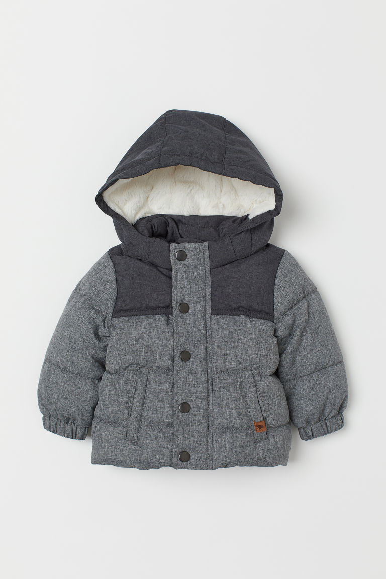 Padded Jacket - Gray melange - Kids | H&M US