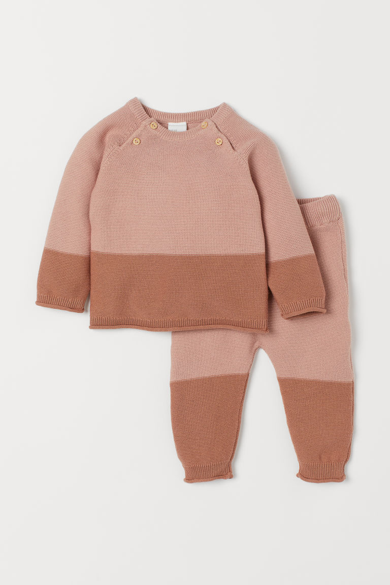 Sweater and Pants - Powder pink - | H&M US