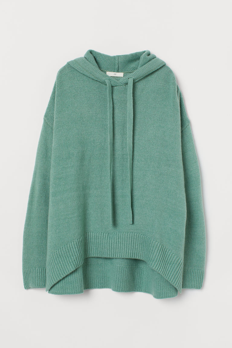 Knit Hooded Sweater - Mint green - Ladies | H&M US