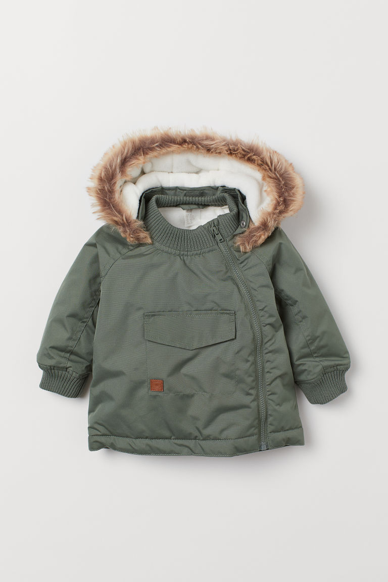 Padded Jacket - Light khaki green - Kids | H&M US
