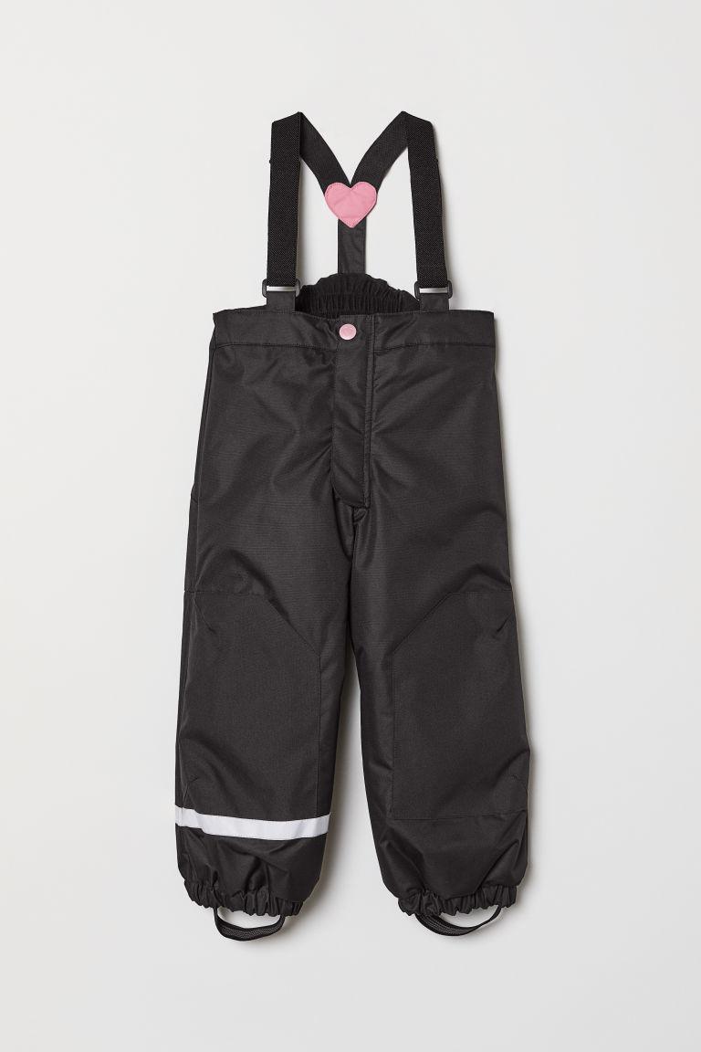 Непромокаемые брюки на лямках - Черный - Дети | H&M RU 3
