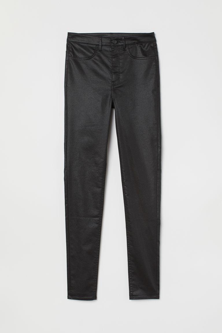 Super Skinny High Jeans - Black/Coating - | H&M GB 1