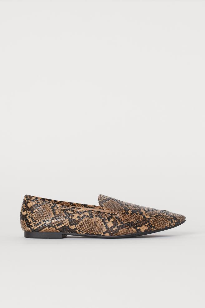 snake skin flats