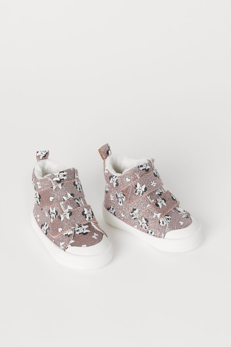 Glittery High Tops - Glittery pink/Minnie Mouse - Kids | H&M US