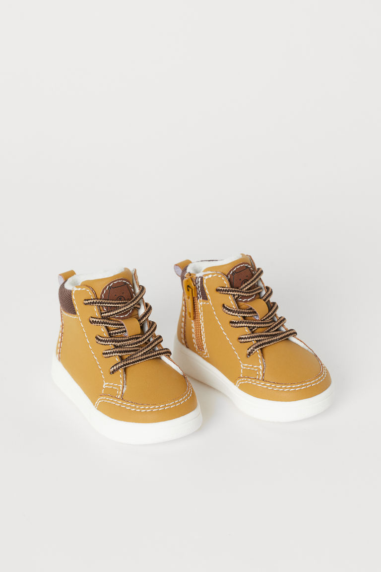 Pile-lined High Tops - Beige - Kids | H&M US