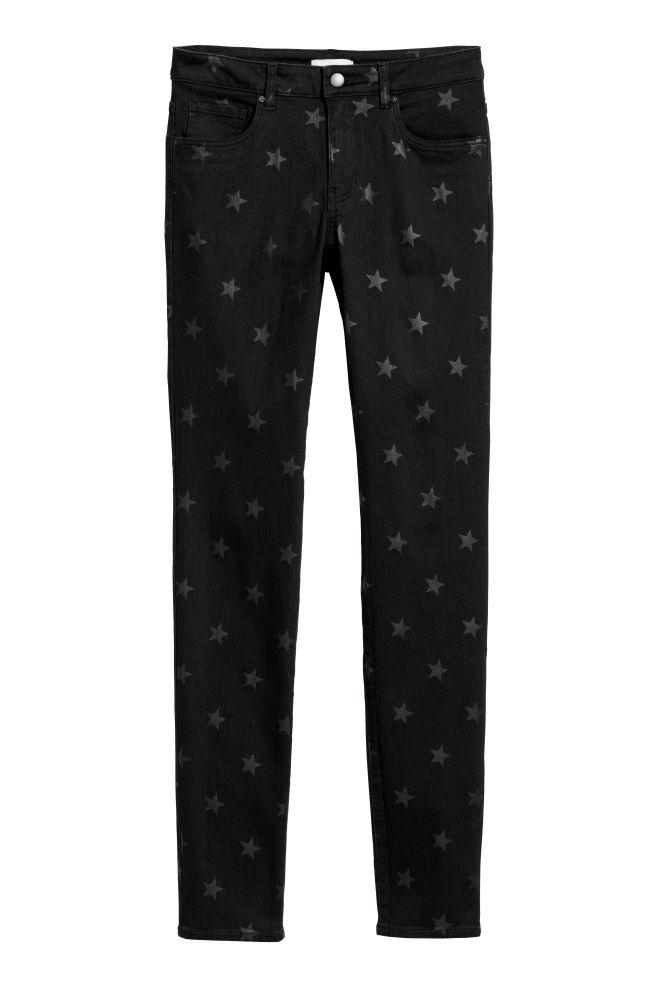 Stretchbyxa - Svart/Stjärnor - DAM | H&M SE 2