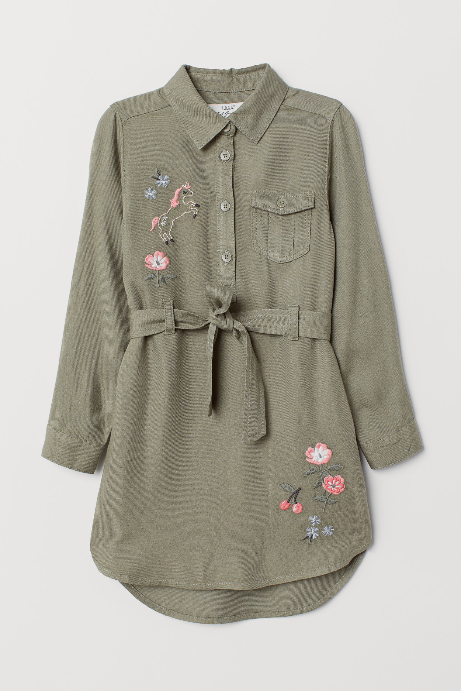 feb80cc6e03c Embroidered shirt dress | H&M KSA