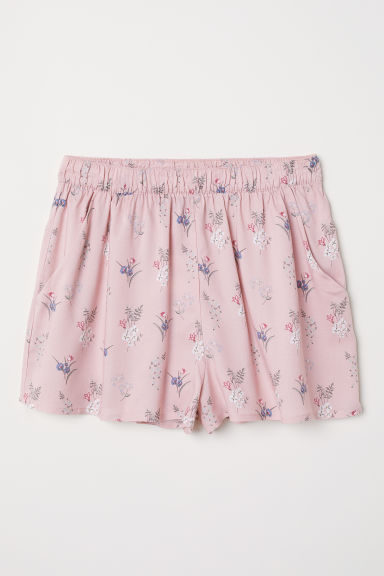 Patterned shorts - Light pink/Floral - Ladies | H&M