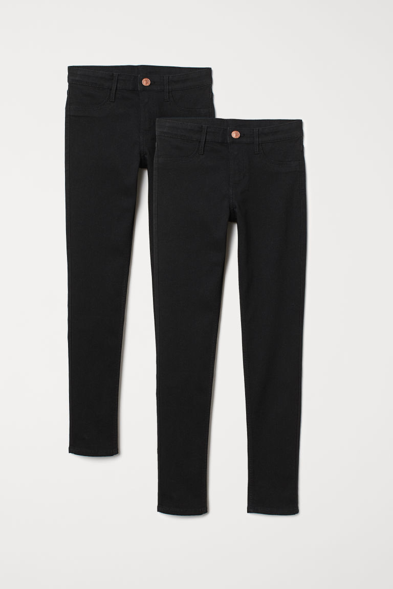 2-pack Skinny Fit Jeans - Black - Kids | H&M CN