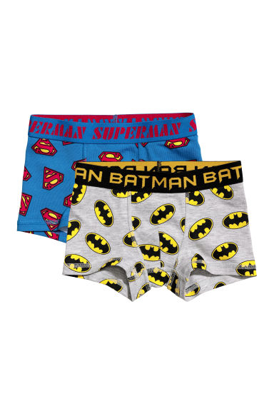 2-pack boxer shorts - Blue Superman/Black Batman -  | H&M CN