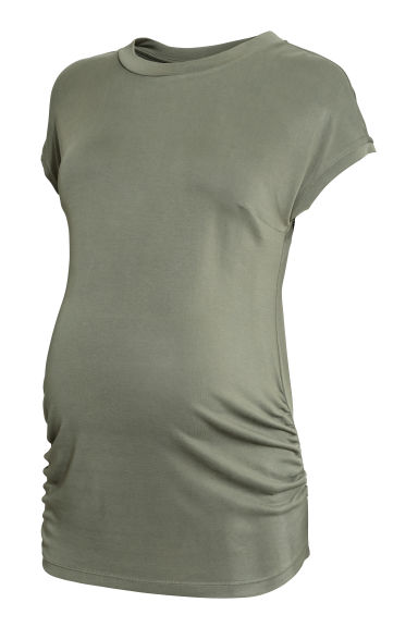 MAMA Modal-blend top - Khaki green -  | H&M