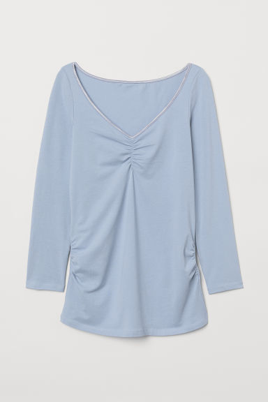 MAMA Pima cotton top - Light blue - Ladies | H&M