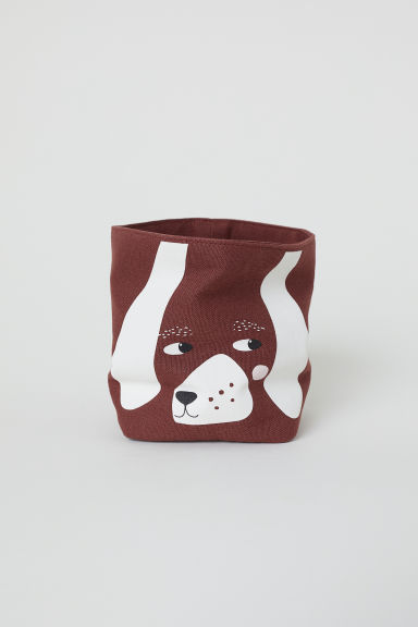 Small canvas storage basket - Brown/Dachshund - Home All | H&M CN