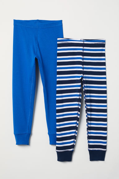 2-pack longjohns - Bright blue/Striped - Kids | H&M