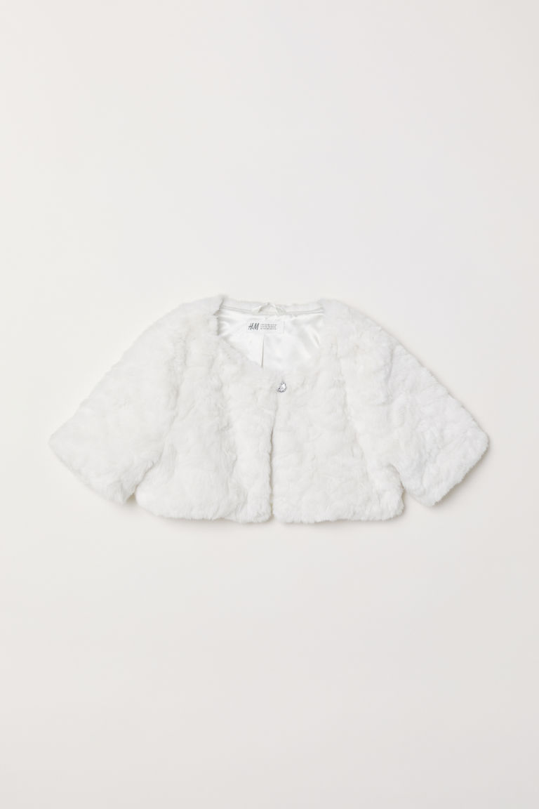 Faux fur bolero - White - Kids | H&M
