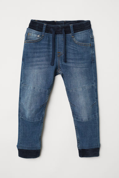 Denim joggers - Dark denim blue - Kids | H&M