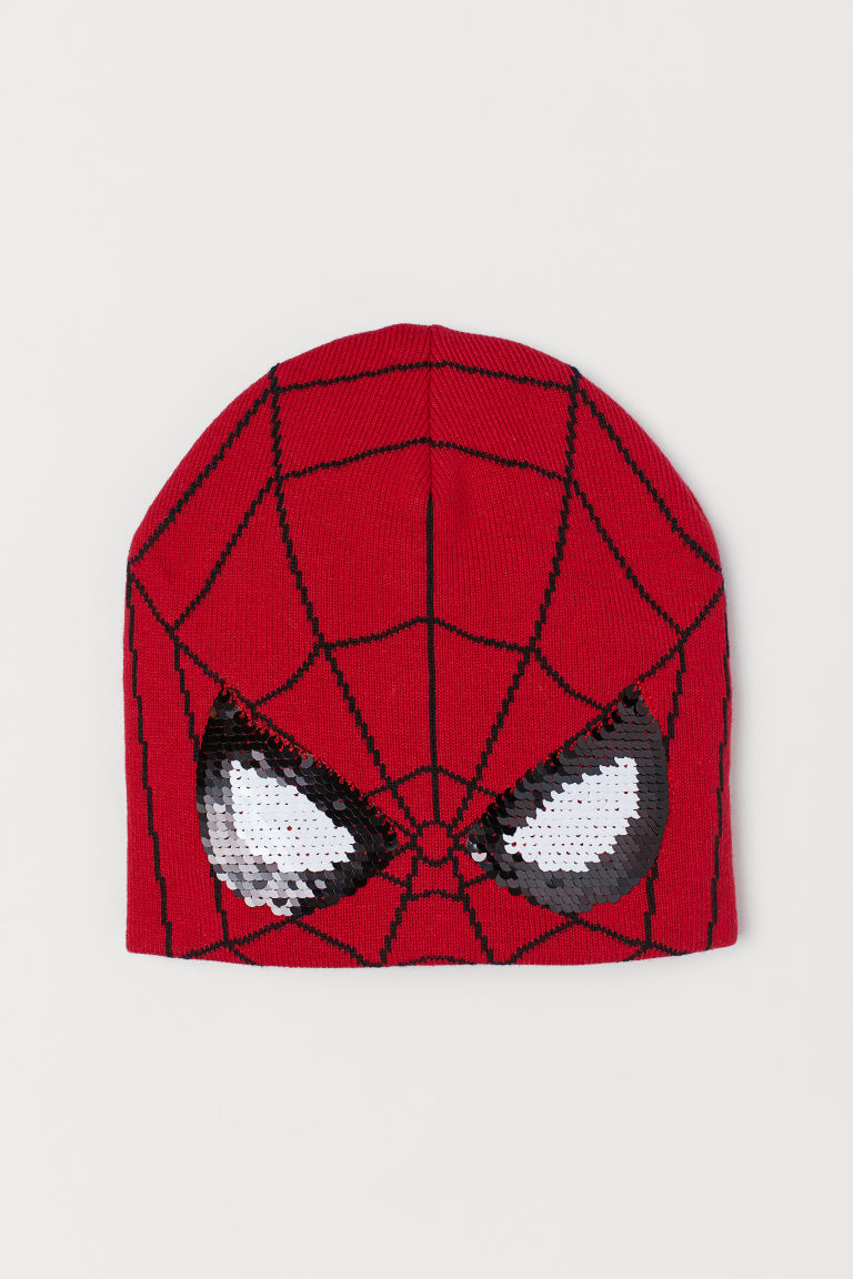 Hat with reversible sequins - Red/Spider-Man - Kids | H&M