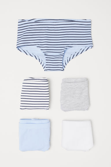 5-pack hipster briefs - Light blue/Striped -  | H&M CN