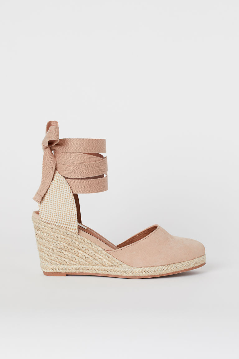 Suede sandals - Beige - Ladies | H&M CN