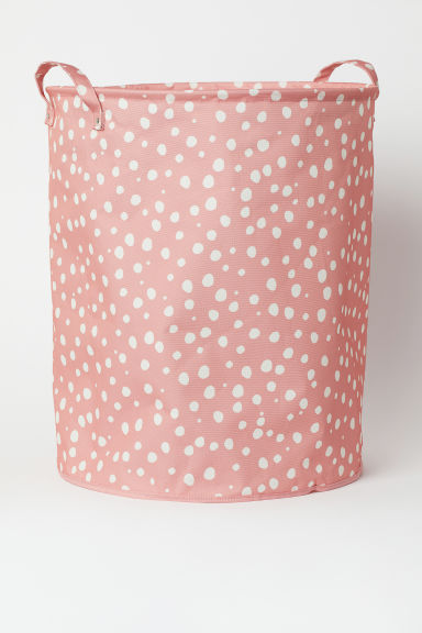 Large storage basket - Pink/Spotted - Home All | H&M GB