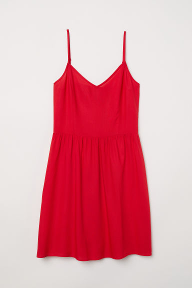 Short dress - Bright red - Ladies | H&M