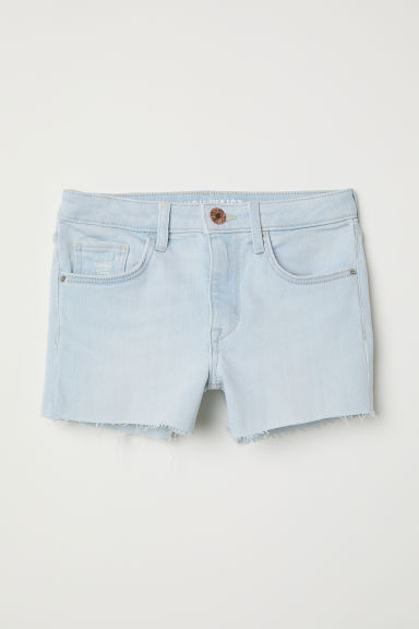 Denim shorts High - Light denim blue - Kids | H&M CN