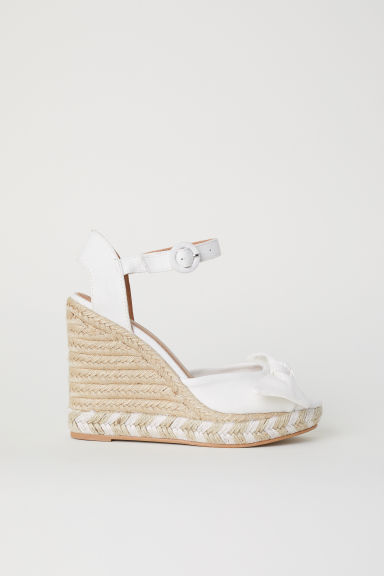 Wedge-heel sandals - White -  | H&M IN